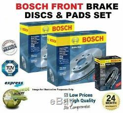 BOSCH Frein Avant Disques & Set Plaquettes pour Opel Corsa IV 1.6 Vxr 2015-