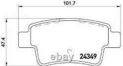 BREMBO Avant + Essieu Arrière Plaquettes de Frein Set pour Opel Corsa 1.6 Vxr