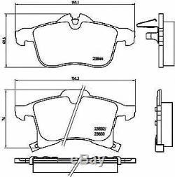 BREMBO Essieu Avant Frein Disques + Coussinets Pour Opel Corsa IV 1.6 Vxr 2015