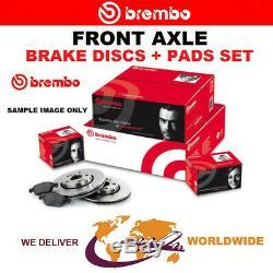 BREMBO Essieu Avant Frein Disques + Coussinets Pour Opel Corsa Mk III 1.6 Vxr