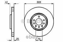 Bosch Frein Avant Disques & Set Plaquettes pour Opel Corsa III 1.6 Vxr 2007-2014