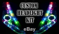 LED Rvb Phare Halo Angel Eye DRL Extension pour Vauxhall Corsa B C D Vxr Gsi
