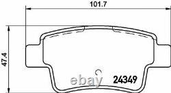 MINTEX Arrière Disques de Frein + Set Plaquettes pour Opel Corsa Mk III 1.6 Vxr