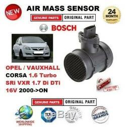 Pour Opel Corsa 1.6 Turbo Sri Vxr 1.7 Di Dti 16V 2000-ON Air Massique Capteur