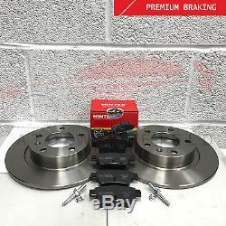 Pour Opel Corsa 1.6 Vxr Nurburgring Clubsport Disque de Frein Arrière Mintex
