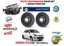Pour Opel Corsa D 1.6 Sri Vxr 07 Avant Performance Disques De Frein+coussinets