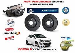 Pour Opel Corsa D 1.6 Sri Vxr 2007 avant Performance Frein Disques + Coussinets