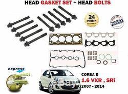 Pour Opel Corsa D 1.6 Sri Vxr Turbo 2007- Tête Joint Set + Boulon Kit