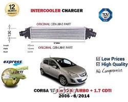 Pour Opel Corsa D 1.6 Vxr Turbo + 1.7 Cdti 2006-2014 Refroidisseur Compresseur