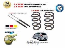 Pour Opel Corsa D + Sri Vxr 2006- 2x Amortisseur Arrière + 2x Ressort