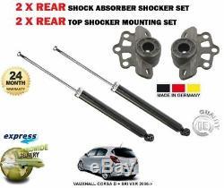 Pour Opel Corsa D + Sri Vxr 2006- 2x Arrière Shockers + Haut Montage Ensemble