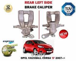 Pour Opel Corsa D Sri Vxr CDTI 2006- Neuf Côté Arrière Gauche Frein Étrier