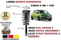 Pour Opel Corsa D VXR 2006- choc arrière + ressort hélicoïdal +