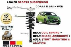 Pour Opel Corsa D Vxr 2006- Arrière Shocker + Bobine Ressort + Haut Support