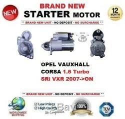 Pour Opel Vauxhall Corsa 1.6 Turbo Sri Vxr à partir de 2007 Démarreur 9 Dents