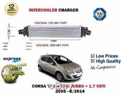 Pour Opel Vauxhall Corsa D 1.6 Vxr Turbo + 1.7 CDTI 2006-2014 Refroidisseur
