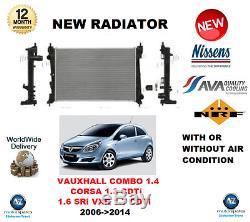 Pour Vauxhall Corsa 1.3 CDTI 1.6 Sri Vxr 1.7 Combo 1.4 2006- 2014 Radiateur