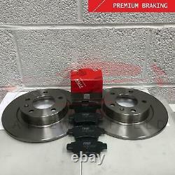 Pour Vauxhall Corsa (E) 1.6 Vxr Arrière Premium Qualité Frein Disques TRW Patins