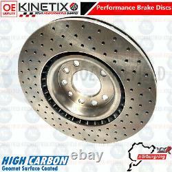 Pour Vauxhall Corsa Vxr Nurburgring Avant Perforé Frein Disques 305MM Kinetix