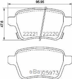 TEXTAR Essieu Arrière Frein Disques + Coussinets Pour Opel Corsa IV IV 1.6 Vxr