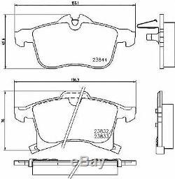 TEXTAR Essieu Avant Frein Disques + Coussinets Pour Opel Corsa Mk III 1.6 Vxr