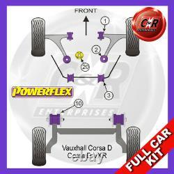 Vauxhall / Opel Corsa D Vxr (2006-2014) Powerflex Complet Bush Kit