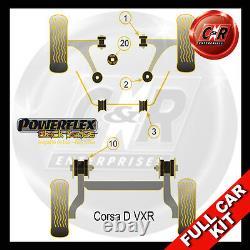 Vauxhall / Opel Corsa D Vxr Powerflex Noir Complet Bush Kit